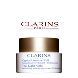 Clarins Vital Light Night Revitalizing Anti-Ageing Cream – All Skin Types