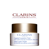 Clarins Vital Light Night Revitalizing Anti-Ageing Comfort Cream – Dry Skin